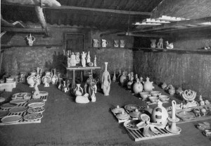 Room full of ceramics at Vallauris 2