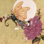AESOP Butterfly and Rose by Arlene Graston
