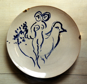 Chagall chipped plate