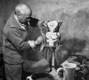Picasso in his workshop in Vallauris 2